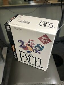 MINT/NIB Microsoft Excel  5.0 (3.5) from 1993 collectible, movie prop.