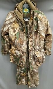 Youth Cabelas Camo Hunting Jacket And Pants Size Large Excellent Condition!