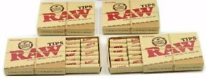Raw Natural Unrefined Pre Rolled Filter Tips 5 Pack 21 Per Box $13.99