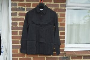 Lemaire Black Dry Silk Military Shirt  Size XS Relaxed fit FW19 RRP $710