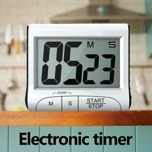 Digital Timer Reminder Alarm LCD Cooking Clock Home Kitchen Count-Down Up Loud