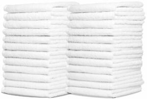 Wash Cloth 100% Cotton 12x12 inches Face finger Wash Cloth White $15.65