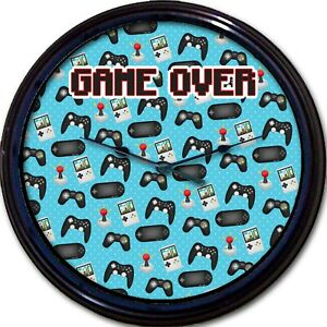 Gamer Wall Clock Game Over Arcade Video Game Controller Game Retro New 10