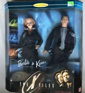 X files Ken And Barbie Dolls New Mattel