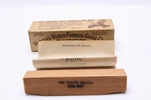 "RARE- COLLECTIBLE HERTER'S "" PLANTATION TURKEY CALL "" WITH FACTORY BOX AND PAPER"
