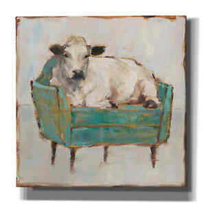 Epic Graffiti 'Moo-ving In I' by Ethan Harper, Giclee Canvas Wall Art