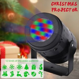 Christmas Laser Projector Light LED MOTION Outdoor Xmas Landscape Stage Lamp US