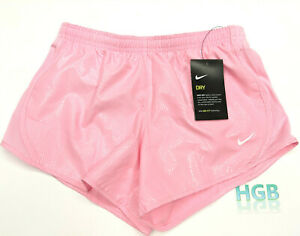 Nike Dry Tempo Shorts Girl's Pink Lined Running Gym Dri-Fit CD7507-654 NWT