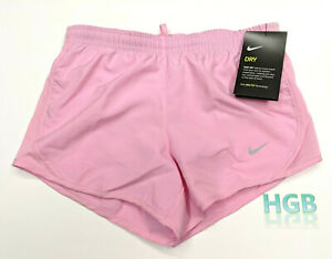 Nike Dry Tempo Shorts Girl's Pink Lined Dri-Fit Gym Running 848196-629 NWT