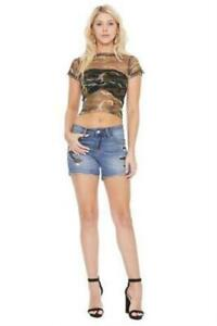 Judy Blue Camo Print Patch Shorts 1X 2X 3X Plus Size Bottoms Fast Shipping