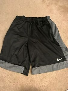 Mens XXL Nike Shorts Basketball Gym Running Shorts Black And Gray