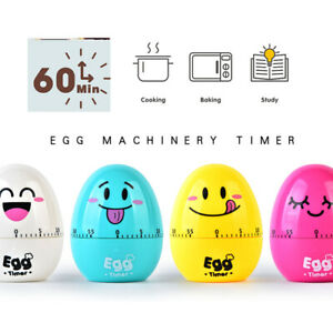 Kitchen Timer Cartoon Egg Shaped 60 Minutes Cooking Mechanical Countdown Alarm