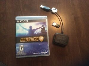 Genuine Guitar Hero Live PS3 USB Dongle Wireless Receiver And disk
