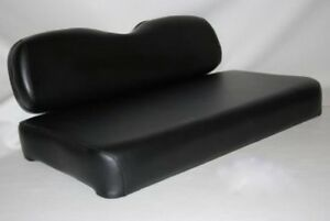 BLACK EZGO 95'-13'  GOLF CART SEAT COVERS  STAPLE ON MARINE VINYL