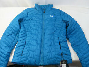 Under Armour 1280894 Women's ColdGear Reactor Jacket Peacock Small New $59.99