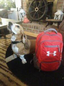 Under Armour Backpack Hustle Storm1 Red  Graphite