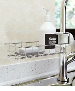 Drain Rack Storage Holder Shelf Kitchen Sink Faucet Sponge Soap Cloth