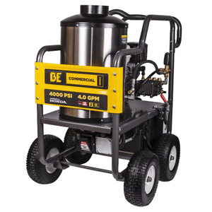 BE Professional 4000 PSI (Gas - Hot Water) Pressure Washer w Honda GX
