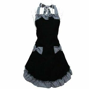 Cute Retro Lovely Vintage Lady S Kitchen Fashion Flirty Women Aprons With Pocket $12.89