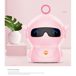 Robot Electric Auto Pencil Sharpener School Sharpener Battery/USB Charge - Pink