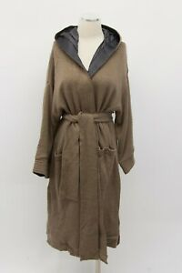 NWT $79225 Brunello Cucinelli Cashmere Silk Hooded Sequined Knit Overcoat M A191 $1500.00