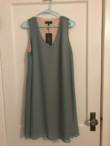 Womens Dresses Size L Lbisse Sage Overlay NWT $9.00
