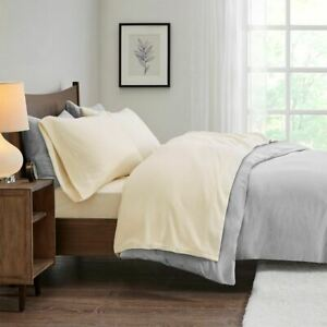 Modern Soft 3pc Ivory TWIN XL Micro Fleece Sheet Set