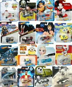 Hot Wheels Character Cars Disney Marvel Star Wars DC More *Updated 9 30 21* $4.99