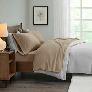 Chic 3pc TWIN Brown Micro Fleece Ultra Soft Sheet Set