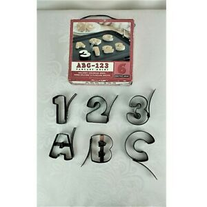 Pancake Molds Letters Numbers Set of 6 Non-stick