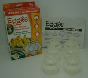 As Seen On TV - Eggies Egg Cookers (6-Pack) - White Used