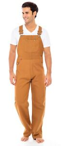 Men#x27;s Duck Carpenter Bib and Brace Overall Heavy Duty Work Pant Dungaree Unlined $38.49