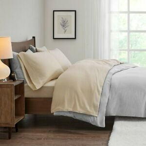 Modern & Soft 3pc TWIN Khaki Brown Micro Fleece Sheet Set