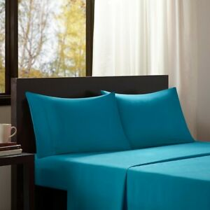 Modern & Soft 3pc TWIN Blue Microfiber All Season Wrinkle-Free Sheet Set