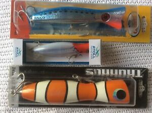 5 x New Poppers  Fishing Lures  Great Lure Pack  Reef  GT Mackerel Wahoo  Halco