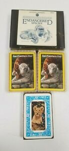 LOT 4 Playing Cards Single and Double Sets Lions tigers Endangered Wildlife $9.95