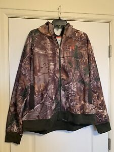 NEW Under Armour Women Hoodie Jacket Camo Pink Realtree S L 2XL 1247102 946 $85 $51.99