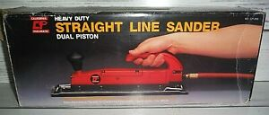 New Straight Line Air Sander Auto Body Shop Dual Piston Paint Remover Pneumatic