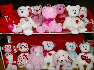 Ty Beanie Babies ❤️Valentine's Day or ❤️Heart ❤️Themed Bears and Animals New