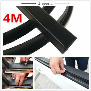 Black 4M Rubber Soundproof Sealed Strips For Car Front Rear Side Windows Edge