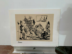 PABLO PICASSO Knight ltd ed. repro print 23X17 Never framed!