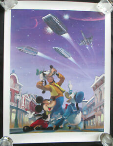 Star Tours Wars Charles Boyer Signed Poster Lithograph Magical Smiles 3 COA '86