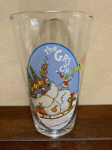 The Grinch Christmas Glass Dr. Seuss Glassware Drinkware 16 oz. Glass