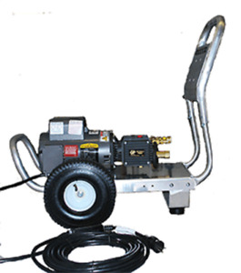 ELECTRIC COLD WATER PRESSURE WASHER 2 HP 120V 2GPM 1500PSI ALUM FRAME 10