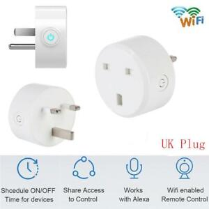 10A Smart WiFi UK US Plug Outlet Switch for Alexa Echo Google Home APP Remote