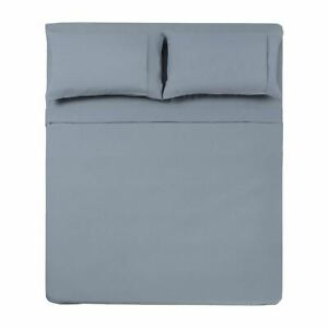 MICROFIBER SOLID 3 PC TXL SHEET SET SILVER -SERIES 1400-