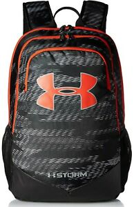 Under Armour Boys UA Storm Scrimmage Backpack Black Radio Red, One Size, 008 $63.47