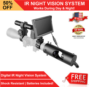 Night Vision Rifle Scope Hunting Sight Infrared 850nm LED IR Camera DIY