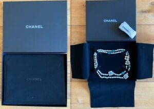 Original CHANEL Gripoix glass paste flowers and pearly beads Sautoir $1950.00