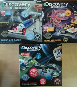 Lot of 3 STEM Discovery Kids Mindblown DIY Build Kits Air Racer Snake Art NEW